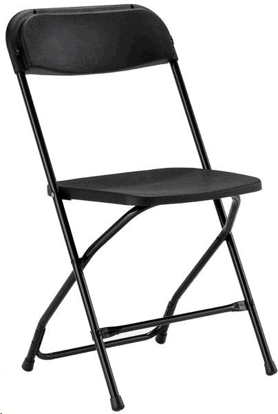 Where to find CHAIRS, BLACK FOLDING in Oak Grove